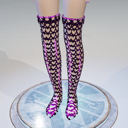 Valentine's Pink Hearts High Boots - Female