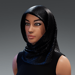 Silky Black Hjab Unisex