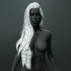 Heather Hair - White (Demo)