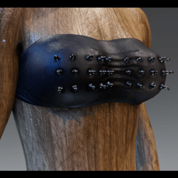 Spiked leather tube top