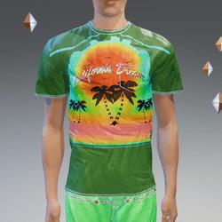 Green California Dream Pocket T-Shirt - Male
