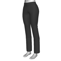 Black Polyester Pants, Ladies, Regular Fit