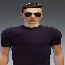 [URBAN FRESH] Mens soft purple shirt