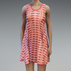 Sleeveless Fish Dress - Salmon Pink