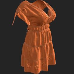 DROMA DRESS ORANGE