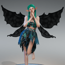 Animated Dark Fairy Wings [Necklace Slot]