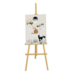 Easel with painting