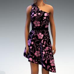 Shoulder Strap Dress in Painted Garden - Pink