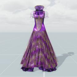 Queen's Dress (Pink Purple)