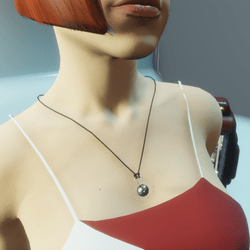 HoverDerby - Silver atom necklace (female)