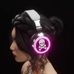 Headphones Pink  RGB (unisex)