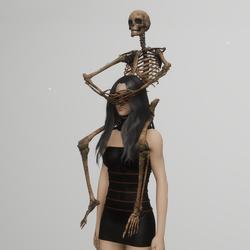 skeleton shoulder pet