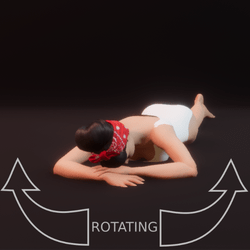 modelpose liegend 03 rotating