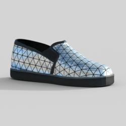 Slip-On  Shoes Metallic Silver Male