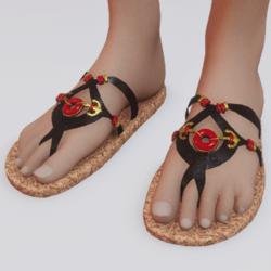 Sailor gold shoes