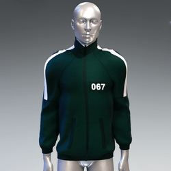 """""""Squid game"""" style sweat jacket male 067"""