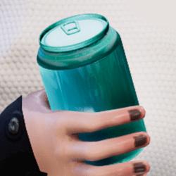 Bottle s-blue in arm