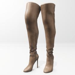 """Alina - Daisy"" and Nicci avatar boots - brown"