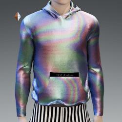 Rainbow Reflective Holographic Hoodie V2