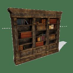 Aged bookshelf