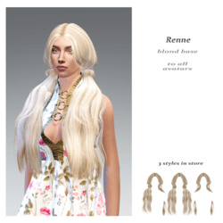 Renne front style-blond base