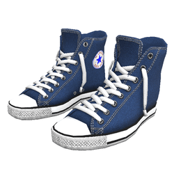 Girl shoes San-Star sneakers high blue for woman
