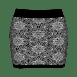 Woman Simple Skirt - Black&White