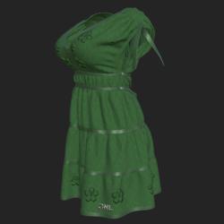 DROMA DRESS GREEN
