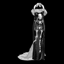 Halloween Skeleton Dress White