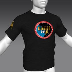 Star Trek Mission Log - Mission Log T-Shirt - Black - Male