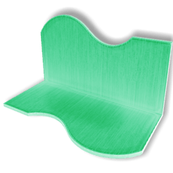 Display For Shop ( H5-W10-D5 ) - Light Green - Collision Mesh