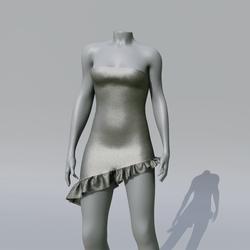 SUZY Onyx Asymetrique Dress