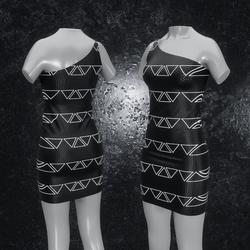 Dress Maja Triangle black white