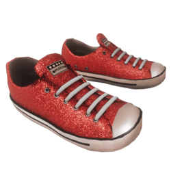 Glitter Sneakers red