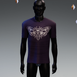 Dead Heads Moth T-Shirt Purple
