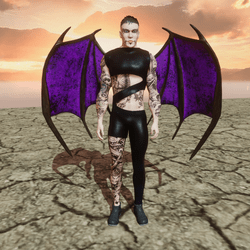 Demon Wings (Male and Female) Succubs and Incubus  (Purple)