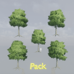 Oak Tree Pack - with roots