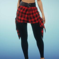 flannel skirt and leggings