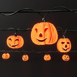 Shiny happy pumpkins - string lights