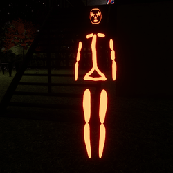 Orange Emissive Rigged Stick Woman Avatar