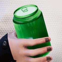 Bottle d-green in arm