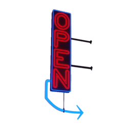 Animated Neon Sign Open