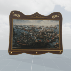 Painting of the battle of Lepanto