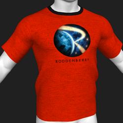 Star Trek Mission Log - Roddenberry T-Shirt - Red - Male