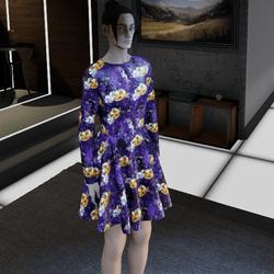 Pumpkin Purple Dress