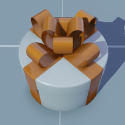 Gift Round with Orange Bow
