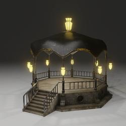 Gazebo light in the darkness