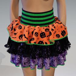 Halloween ruffle skirt