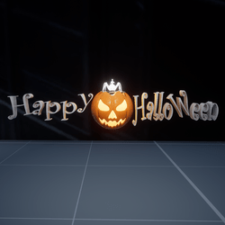 HAPPY HALLOWEEN LIGHT SIGN(2 colors)
