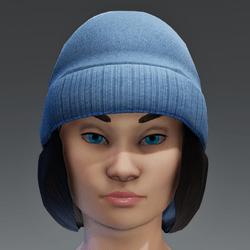 Winter Cap with Color change Cap - Black FEMALE